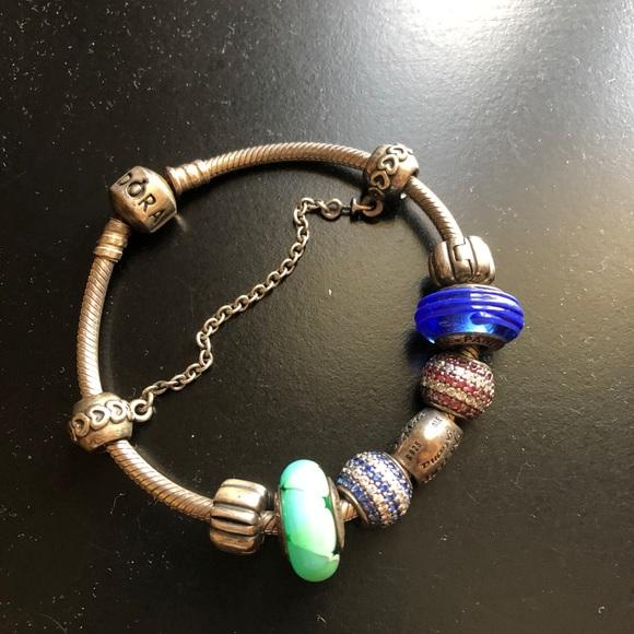 Pandora Jewelry Bracelet With Charms Poshmark